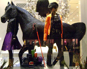 Black Arabian Window display